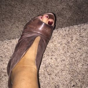 Sexy brown booty shoes